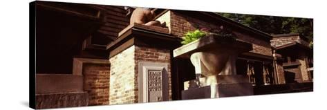 Facade of a House, Frank Lloyd Wright Home and Studio, Oak Park, Cook County, Illinois, USA--Stretched Canvas Print