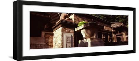Facade of a House, Frank Lloyd Wright Home and Studio, Oak Park, Cook County, Illinois, USA--Framed Art Print