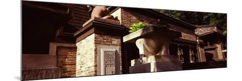 Facade of a House, Frank Lloyd Wright Home and Studio, Oak Park, Cook County, Illinois, USA--Mounted Photographic Print
