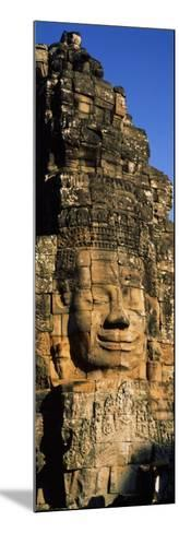 Face Carved on Rocks in a Temple, Bayon Temple, Angkor, Cambodia--Mounted Photographic Print