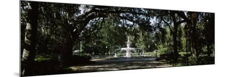 Fountain in a Park, Forsyth Park, Savannah, Chatham County, Georgia, USA--Mounted Photographic Print
