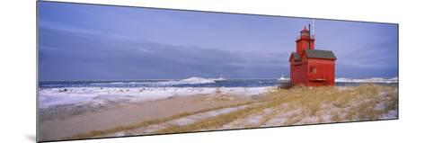 Lighthouse at the Lakeside, Big Red Lighthouse, Lake Michigan, Holland, Michigan, USA--Mounted Photographic Print
