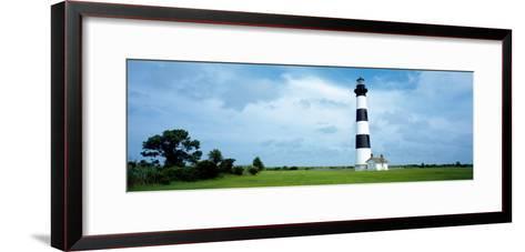 Lighthouse in a Field, Bodie Island Lighthouse, Bodie Island, North Carolina, USA--Framed Art Print