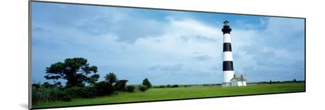 Lighthouse in a Field, Bodie Island Lighthouse, Bodie Island, North Carolina, USA--Mounted Photographic Print