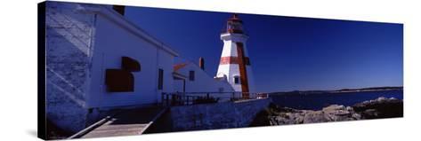 Lighthouse on the Coast, Head Harbour Light, Campobello Island, New Brunswick, Canada--Stretched Canvas Print