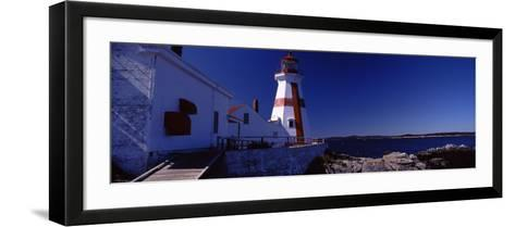 Lighthouse on the Coast, Head Harbour Light, Campobello Island, New Brunswick, Canada--Framed Art Print