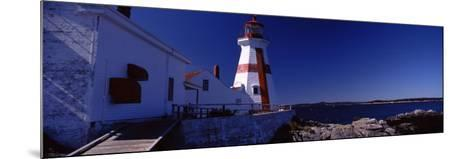 Lighthouse on the Coast, Head Harbour Light, Campobello Island, New Brunswick, Canada--Mounted Photographic Print