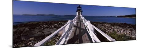 Lighthouse on Coast, Marshall Point Lighthouse, Built 1832, Rebuilt 1858, Port Clyde, Maine, USA--Mounted Photographic Print