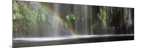 Rainbow Formed in Front of Waterfall in a Forest, Near Dunsmuir, California, USA--Mounted Photographic Print