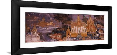 Ramayana Murals in a Palace, Royal Palace, Phnom Penh, Cambodia--Framed Art Print