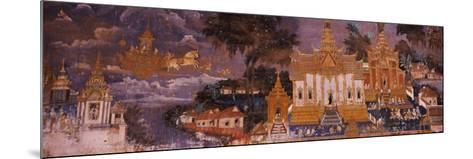 Ramayana Murals in a Palace, Royal Palace, Phnom Penh, Cambodia--Mounted Photographic Print