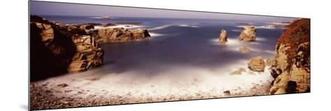 Rock Formations at the Coast, Moonlight Exposure, Big Sur, California, USA--Mounted Photographic Print