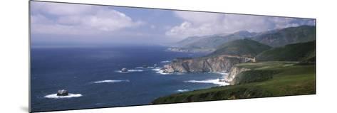 Rock Formations on the Beach, Bixby Bridge, Pacific Coast Highway, Big Sur, California, USA--Mounted Photographic Print