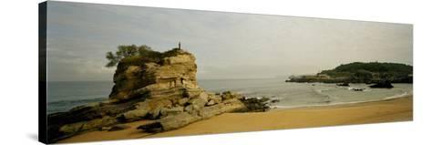 Rock Formations on the Beach, El Sardinero, Santander, Cantabria, Spain--Stretched Canvas Print