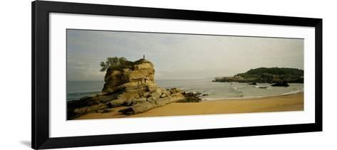 Rock Formations on the Beach, El Sardinero, Santander, Cantabria, Spain--Framed Art Print