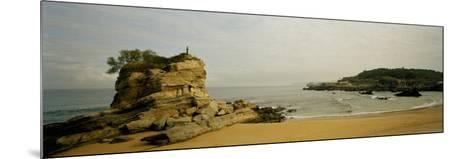 Rock Formations on the Beach, El Sardinero, Santander, Cantabria, Spain--Mounted Photographic Print
