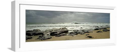 Rock Formations on the Beach, Jeffreys Bay, Eastern Cape, South Africa--Framed Art Print