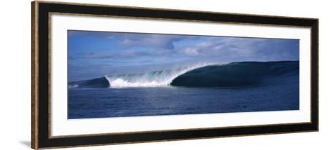 Rough Waves in the Sea, Tahiti, French Polynesia--Framed Art Print