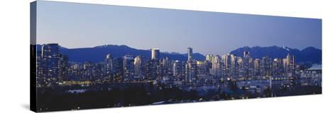 Skyscrapers in a City, False Creek, Vancouver, Lower Mainland, British Columbia, Canada--Stretched Canvas Print