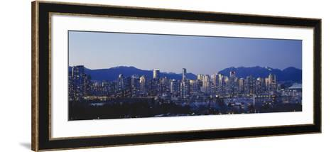 Skyscrapers in a City, False Creek, Vancouver, Lower Mainland, British Columbia, Canada--Framed Art Print