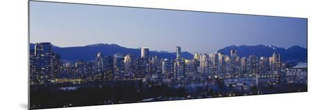Skyscrapers in a City, False Creek, Vancouver, Lower Mainland, British Columbia, Canada--Mounted Photographic Print