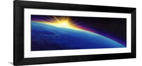 Sun Rising over the Earth--Framed Art Print
