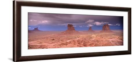 Thunderstorm over a Landscape, Monument Valley, San Juan County, Utah, USA--Framed Art Print