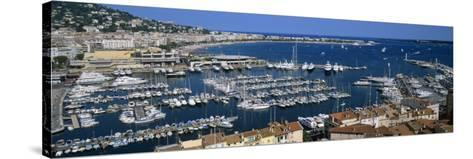 View of a Harbor, Cannes, Provence-Alpes-Cote D'Azur, France--Stretched Canvas Print