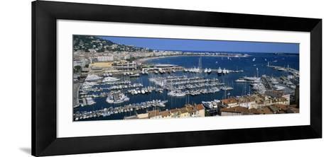 View of a Harbor, Cannes, Provence-Alpes-Cote D'Azur, France--Framed Art Print