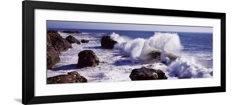 Waves Breaking on the Coast, Santa Cruz, Santa Cruz County, California, USA--Framed Art Print
