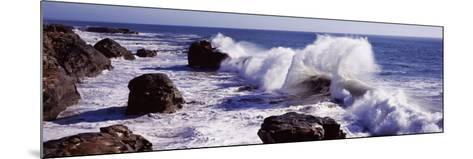 Waves Breaking on the Coast, Santa Cruz, Santa Cruz County, California, USA--Mounted Photographic Print