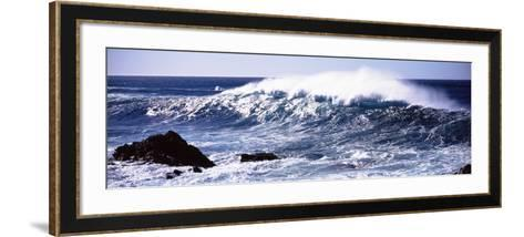Waves in the Sea, Big Sur, California, USA--Framed Art Print