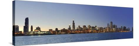 Shedd Acquarium and Chicago Skyline at Dusk, Chicago, Illinois, USA-Michele Falzone-Stretched Canvas Print