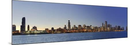 Shedd Acquarium and Chicago Skyline at Dusk, Chicago, Illinois, USA-Michele Falzone-Mounted Photographic Print