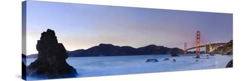 California, San Francisco, Baker's Beach and Golden Gate Bridge, USA-Michele Falzone-Stretched Canvas Print