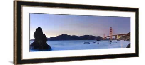 California, San Francisco, Baker's Beach and Golden Gate Bridge, USA-Michele Falzone-Framed Art Print