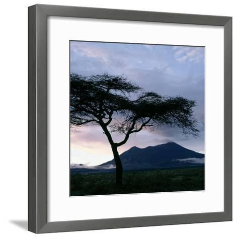 Dawn Breaks over Mount Meru, Tanzania-Nigel Pavitt-Framed Art Print