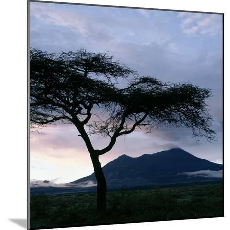 Dawn Breaks over Mount Meru, Tanzania-Nigel Pavitt-Mounted Photographic Print