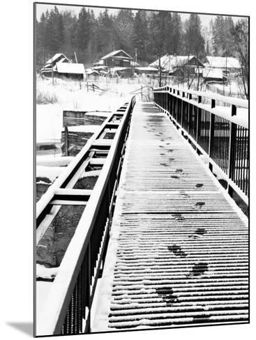 Footprints on the Bridge, Somino Village, Leningrad Region, Russia-Nadia Isakova-Mounted Photographic Print