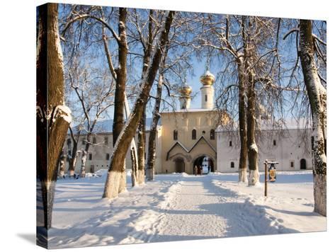 Entrance to the Bogorodichno-Uspenskij Monastery, Tikhvin, Leningrad Region, Russia-Nadia Isakova-Stretched Canvas Print