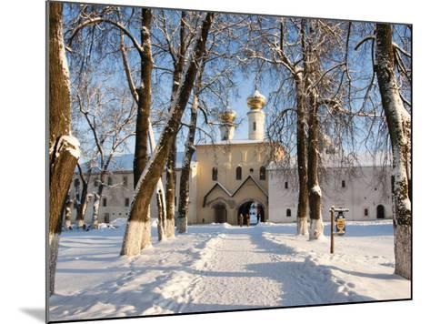 Entrance to the Bogorodichno-Uspenskij Monastery, Tikhvin, Leningrad Region, Russia-Nadia Isakova-Mounted Photographic Print
