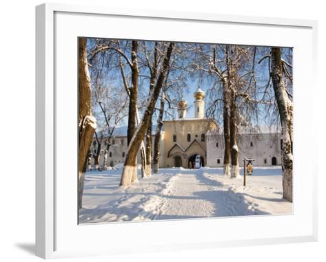 Entrance to the Bogorodichno-Uspenskij Monastery, Tikhvin, Leningrad Region, Russia-Nadia Isakova-Framed Art Print