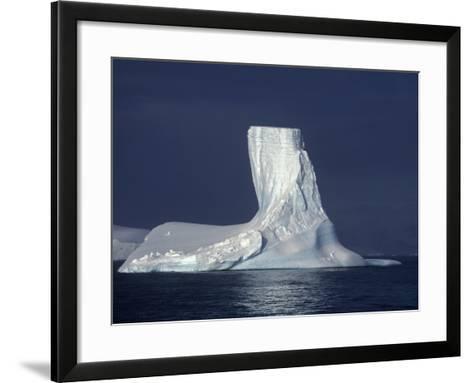 Penola Strait, Pleneau Island, Columnar Iceberg in Evening Light, Antarctica-Allan White-Framed Art Print