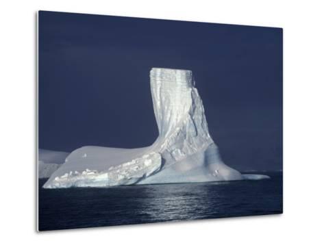 Penola Strait, Pleneau Island, Columnar Iceberg in Evening Light, Antarctica-Allan White-Metal Print