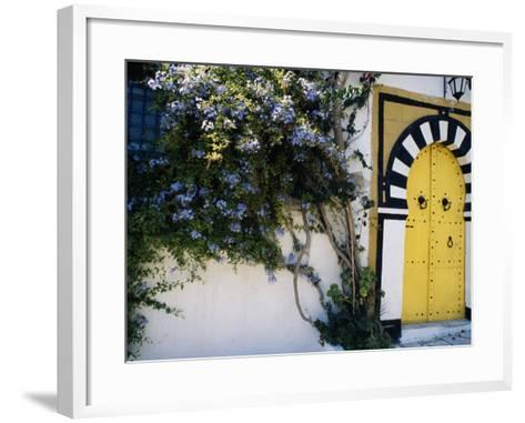 Tunis, Sidi Bou Said, A Decorative Doorway of a Private House, Tunisia-Amar Grover-Framed Art Print