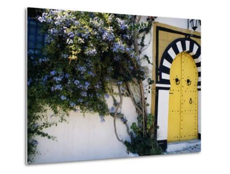 Tunis, Sidi Bou Said, A Decorative Doorway of a Private House, Tunisia-Amar Grover-Metal Print