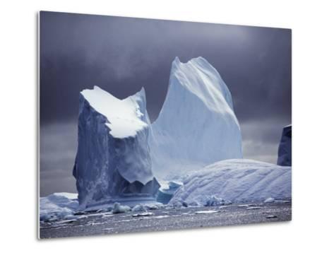 Grandidier Channel, Pleneau Island, Grounded Iceberg, Antarctica-Allan White-Metal Print