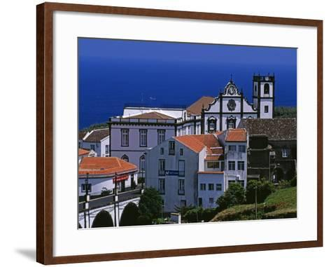 Church Tower Dominates the Town of Nordeste on the Island of Sao Miguel, Azores-William Gray-Framed Art Print