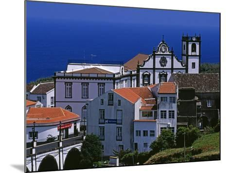 Church Tower Dominates the Town of Nordeste on the Island of Sao Miguel, Azores-William Gray-Mounted Photographic Print