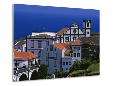 Church Tower Dominates the Town of Nordeste on the Island of Sao Miguel, Azores-William Gray-Metal Print